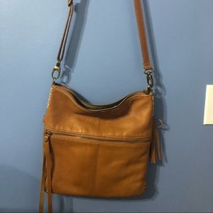 Lucky Brand Leather Crossbody Tan Leather Purse
